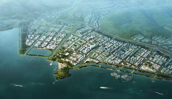 目前该业务板块主要包括宁波梅山岛开发投资有限公司,宁波滨海新城